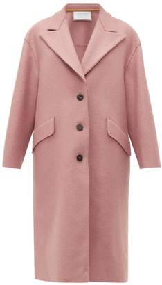 Harris Wharf London Peak-lapel Single-breasted Wool Coat - Womens - Light Pink