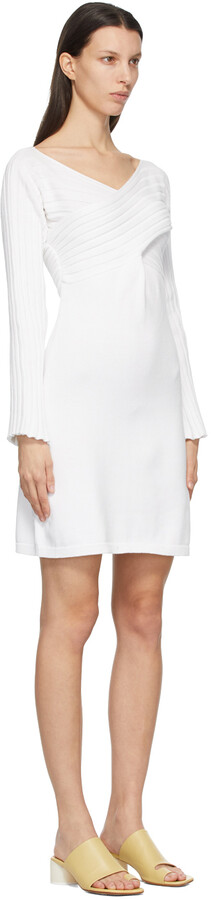 Thumbnail for your product : MM6 MAISON MARGIELA White Twist Sweater Dress