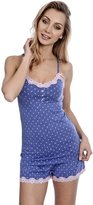Sleep & Co. Women's Printed Cami Pyjama Lingerie Set with Lace Trim