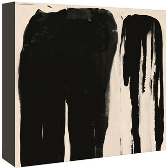 American Flat Americanflat Black And Taupe Abstract 5 By Kasi Minami Canvas Artwork