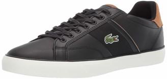 Lacoste Men's Fairlead Sneaker black/light brown 11.5 Medium US