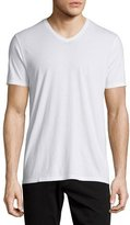 Vince Short-Sleeve V-Neck Jersey T-Shirt, White