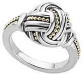 Lagos Small Sterling Silver & 18K Caviar Knot Ring, Size 7