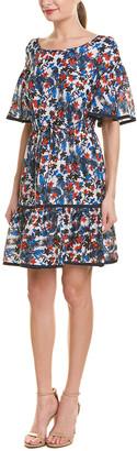 Milly Rose Silk A-Line Dress