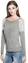 GUESS Women's Luzia Lace Sweater