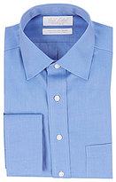 Roundtree & Yorke Gold Label Non-Iron Fitted Classic-Fit Spread-Collar French Cuff Dress Shirt