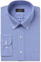 Club Room Estate Men's Wrinkle-Resistant Classic Blue Stripe Dress Shirt, Created for Macy's
