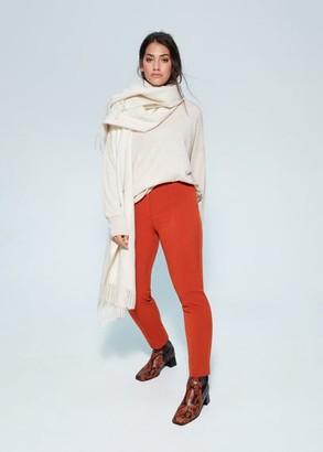 MANGO Violeta BY Slim seam trousers caramel - 12 - Plus sizes