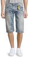 Robin's Jeans Faded Slim-Fit Denim Shorts, Light Blue