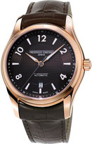 Frederique Constant Fc303rmc6b4 Runabout Rose Gold-plated Steel And Leather Watch