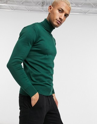 Bolongaro Trevor turtleneck jumper in green