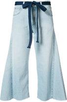 Sonia Rykiel wide leg cropped jeans - women - Cotton - 34