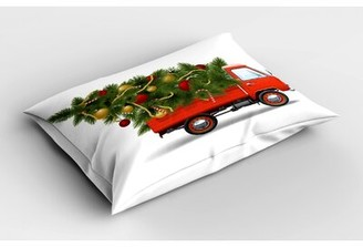 East Urban Home Truck Christmas Sham Size: Queen