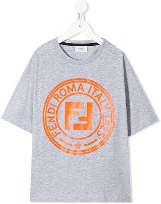 Fendi Kids logo-print T-shirt