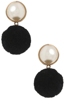 Amrita Singh Pearl Dome & Pom Pom Statement Earrings