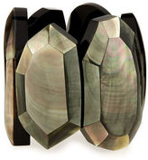 Viktoria Hayman Faceted Mother-of-Pearl Stretch Bracelet