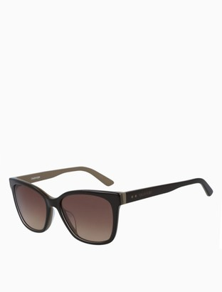 Calvin Klein Modified Rectangle Acetate Sunglasses