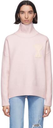 Ami Alexandre Mattiussi SSENSE Exclusive Pink Ami De Coeur Turtleneck