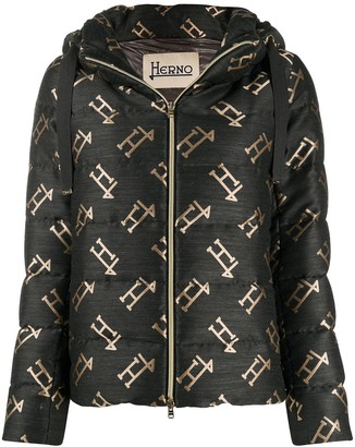 Herno All-Over Logo Padded Jacket
