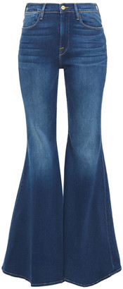 Frame Le High Super Flare Faded High-rise Flared Jeans