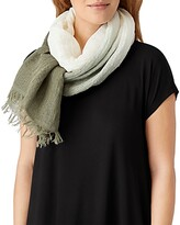 Thumbnail for your product : Eileen Fisher Ombre Linen Blend Scarf