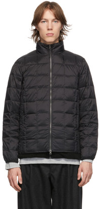 TAION Black Down Basic High Neck Puffer Jacket