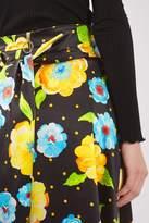 Topshop Silk Hanky Hem Print Skirt By Boutique