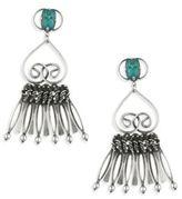 Dannijo Vert Crystal Fringe Drop Earrings