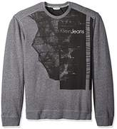 Calvin Klein Jeans Men's Printed Logo Crew Neck Sweatshirt