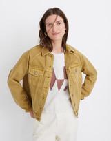 Madewell The Raglan Oversized Jean Jacket: Garment-Dyed Edition