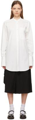 Y's Ys Off-White No Collar Shirt