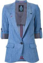 GUILD PRIME chambray blazer - women - Cupro/Tencel - 36
