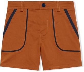 Gucci Kids Logo Patch Two-Tone Shorts