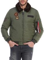 Fur Army Bomber Jacket