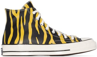 Converse Yellow Archive Prints Chuck 70 leather high top sneakers