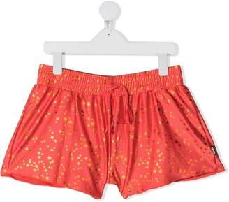 Molo Kids TEEN star print swim shorts