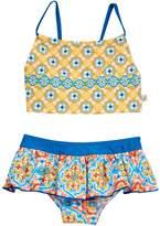 Floatimini Spanish Tile Crop Bikini Set (Toddler, Little Girls, & Big Girls)