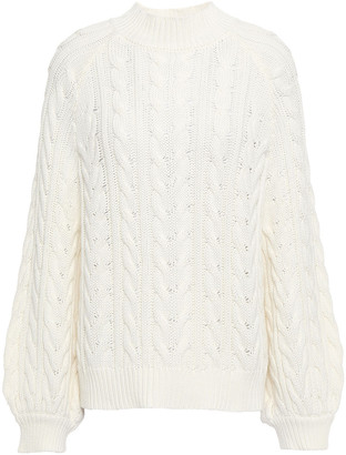 Paper London Button-embellished Cable-knit Cotton Sweater