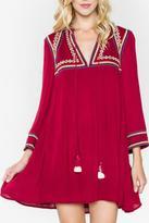 Sugar Lips Embroidered Tassel Dress