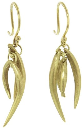 Ten Thousand Things Small Tusk Drop Yellow Gold Earrings