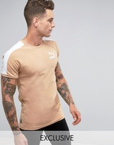 Puma Muscle Fit T-Shirt In Tan Exclusive To ASOS