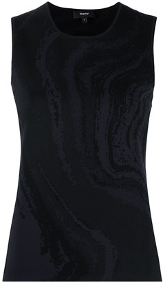 Theory Galaxy sleeveless knitted top