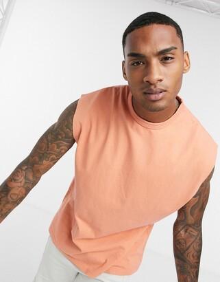 ASOS DESIGN oversized slseveless t-shirt in heavyweight acid wash