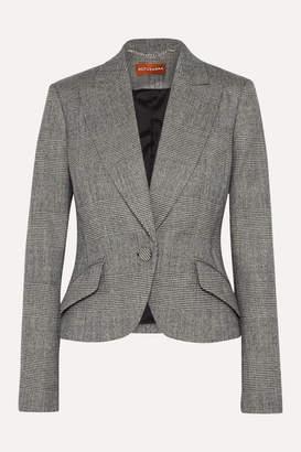 Altuzarra Kershaw Checked Wool-blend Blazer - Gray