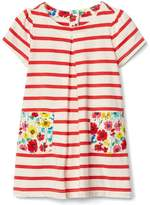 Gap Stripe and floral pleat dress