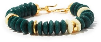 Lizzie Fortunato Candy Gold-plated And Recycled-glass Bracelet - Green