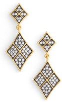 Freida Rothman Women's Contemporary Deco Drop Earrings