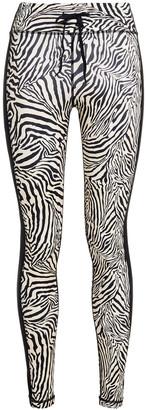 The Upside Zebra-print Stretch Leggings