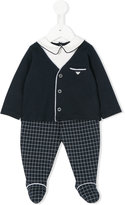 Armani Junior cardigan-style babygrow