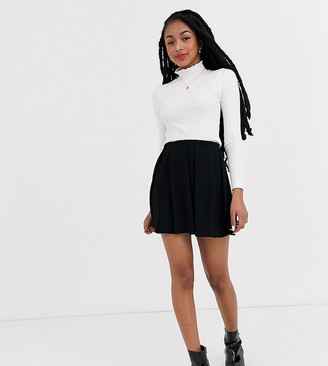 Asos DESIGN Petite mini skirt with box pleats